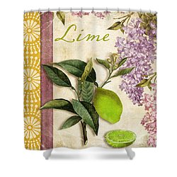 Summer Citrus Lime Shower Curtain by Mindy Sommers