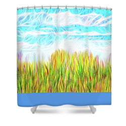 Summer Clouds Streaming Shower Curtain by Joel Bruce Wallach