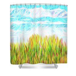 Summer Clouds Streaming Shower Curtain