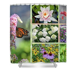 Summer Collage Shower Curtain