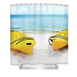 Shower Curtain featuring the photograph Summer Colors On The Beach by Shelby Young