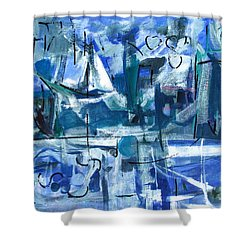 Shower Curtain featuring the painting Summer Coming Down Final Version by Betty Pieper