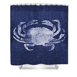 Summer Crab- Art By Linda Woods Shower Curtain