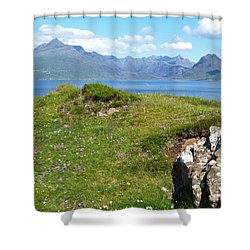 Summer - Cuillin Mountains Shower Curtain