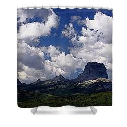 Summer Day At Chief Mountain Shower Curtain