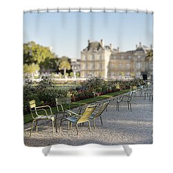 Summer Day Out At The Luxembourg Garden Shower Curtain