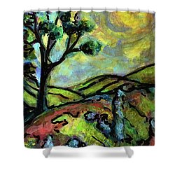 Summer Day Shower Curtain by Rae Chichilnitsky