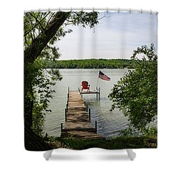 Summer Days On Lake Como Shower Curtain