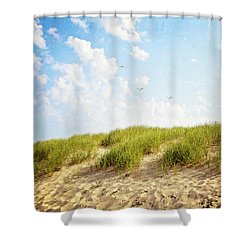 Shower Curtain featuring the photograph Summer Dunes by Melanie Alexandra Price