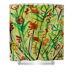 Summer Ends Shower Curtain by Mary Carol Williams