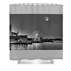 Summer Eve On The Seattle Waterfront Shower Curtain