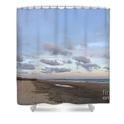 Summer Evening Sky Shower Curtain