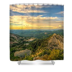 Summer Evening View From Sunset Peak Shower Curtain