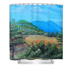 Summer Fields 2 Shower Curtain by Remegio Onia