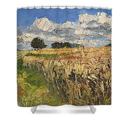 Summer Fields Plein Air Landscape Shower Curtain by Martin Stankewitz