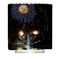 Summer Fireworks I Shower Curtain by Helen Northcott