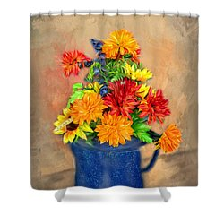 Summer Flowers Shower Curtain by Mary Timman