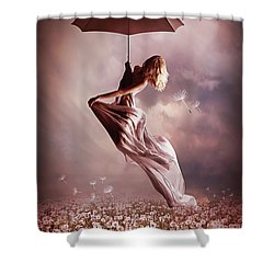 Summer Fly Shower Curtain