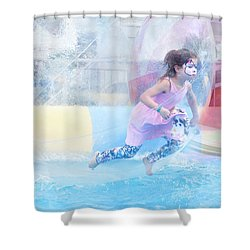 Summer Fun Shower Curtain by Theresa Tahara