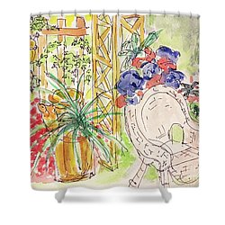 Summer Garden Shower Curtain by Barbara Anna Knauf
