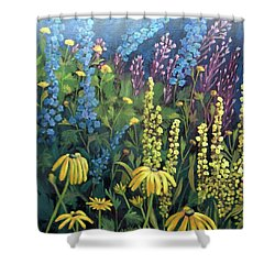 Summer Garden Shower Curtain by Susan  Spohn