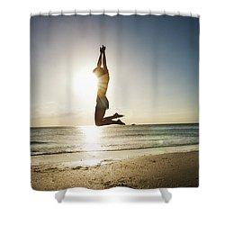 Summer Girl Summer Jump  Shower Curtain