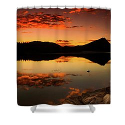 Summer Glow Shower Curtain by John De Bord