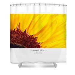 Shower Curtain featuring the digital art Summer Gold by Julian Perry