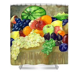 Summer Harvest Shower Curtain by Sharon Mick