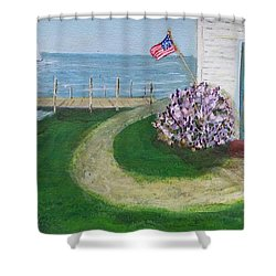 Summer Home In Maine Shower Curtain