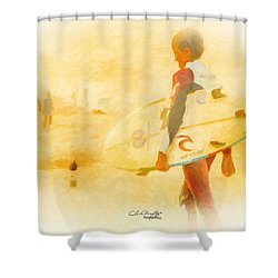 Shower Curtain featuring the painting Summer II by Chris Armytage