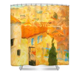 Summer In Athens Shower Curtain