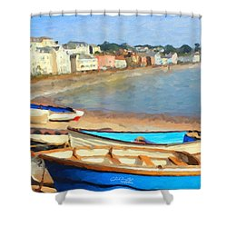 Summer In Dawlish Shower Curtain