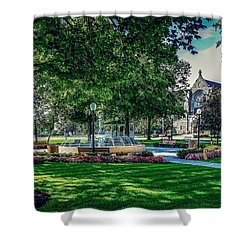 Shower Curtain featuring the photograph Summer In Juckett Park by Kendall McKernon