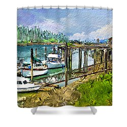 Summer In La'conner Shower Curtain by Dale Stillman