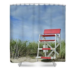 Summer In Red White And Blue Shower Curtain