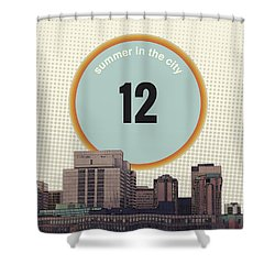 Shower Curtain featuring the photograph Summer In The City by Phil Perkins