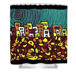 Summer In The City Shower Curtain by Wayne Potrafka
