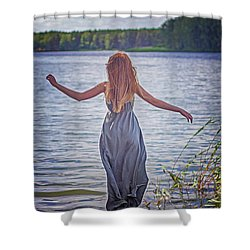 Summer In The Light And Winter In The Shade Shower Curtain by Agnieszka Mlicka
