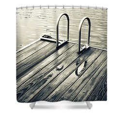 Summer Lake Swim Shower Curtain
