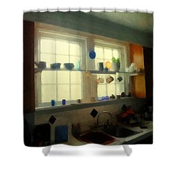 Summer Light In The Kitchen Shower Curtain by RC deWinter