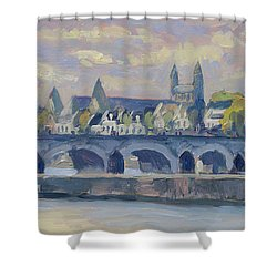 Summer Maas Bridge Maastricht Shower Curtain