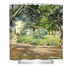 Summer  Shower Curtain by Manuel Garcia y Rodriguez