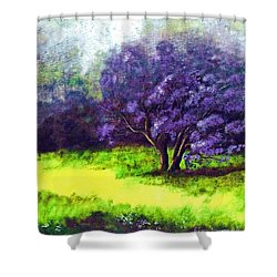 Shower Curtain featuring the painting Summer Mist by Patricia Griffin Brett