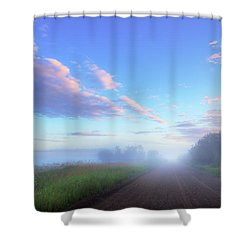 Shower Curtain featuring the photograph Summer Morning In Alberta by Dan Jurak
