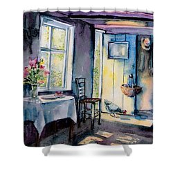 Summer Morning Visitor  Shower Curtain