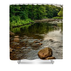 Summer Morning Williams River Shower Curtain