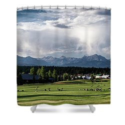 Summer Mountain Paradise Shower Curtain