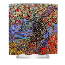 Enchanted Garden Shower Curtain by Rae Chichilnitsky