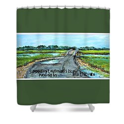 Summer On Lieutenant's Island Shower Curtain